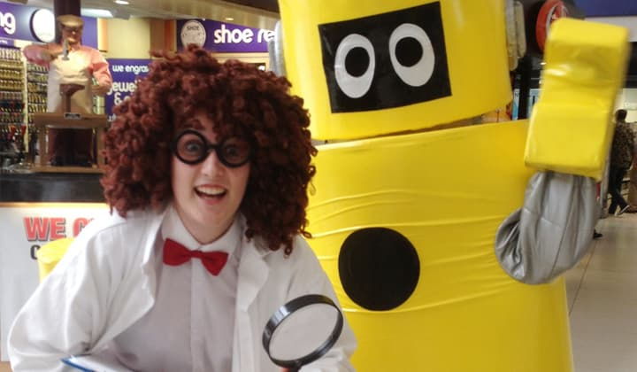 Kid's entertainment at a science show for childrenin Dublin and Kildare